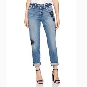 NYDJ Floral Embroidered Jessica Boyfriend Jeans